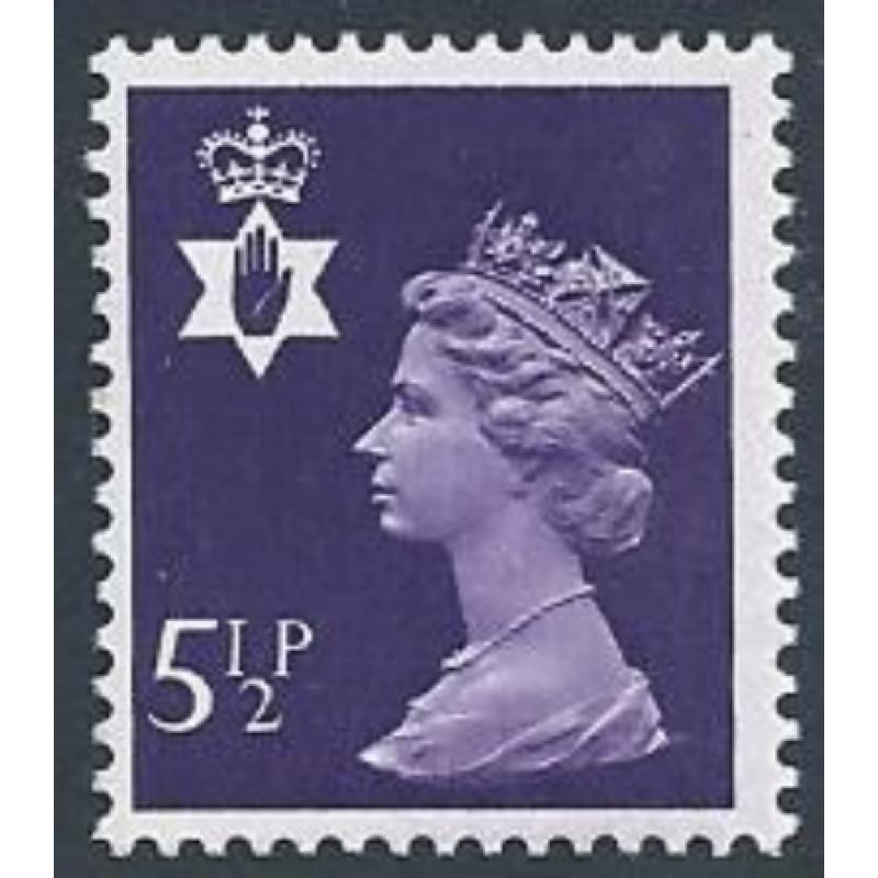 5½p violet FCP/PVAD. MISSING PHOSPHOR. SG NI19Ey